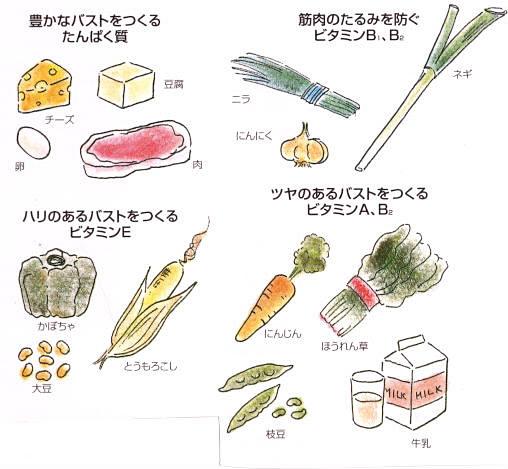 簡単バストアップ方法その②「食べ物」